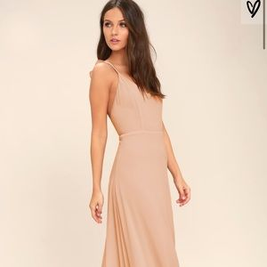 Bridesmaid blush dress